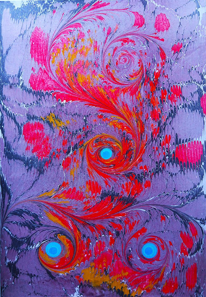 Ressam Dağlı Ebru şiirleşmiş Resimdir